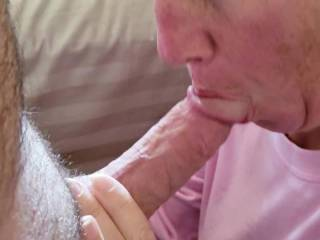Just had to suck the hubby\'s cock this morning! I\'ll post a pic of the cum load he shot on me! Who wants a BJ?