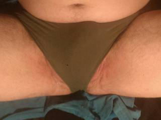 Me wearing another members dirty sweaty panties just for her