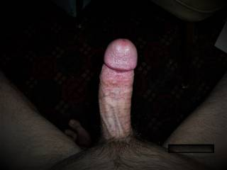 top view of my dick