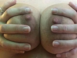 Would love to feel two different men sucking my nipples at the same time—-any volunteers???