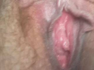 Kiki started sending me pics of her hairy little pink pussy again. What do you think of her pink pussy?