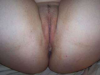 A close up of my wife\'s pussy, just about ready to fuck her hard!!