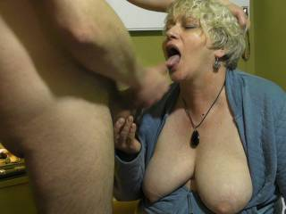 Fuck she looks so hungry for your load shoot it to the back of her throat. Mmmmm I think she may like the taste of it.  Xxxxx