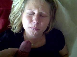 Wow, that is one of the best facials!  Having a second load shoot on her would have been way over the top!