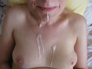nothing is more beautiful than a mature woman with cum on her face