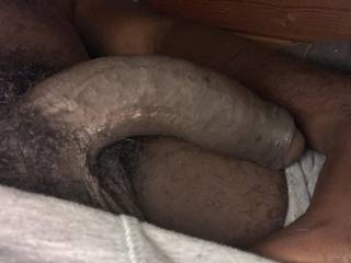 Someone come get this uncut cock up
