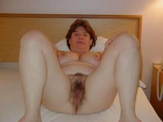 wife, hairy, spread