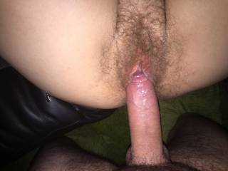 Great, sexy photo... nice big cock entering a delicious, swollen furry pussy.. Yummy! X