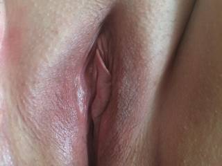 Hmmm would love that sweet little pussy wrapped around my big fat hard cock