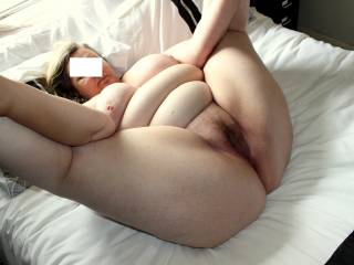 Spreadin wide and imagining your cocks!