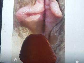 Cum on beautiful pussy tribute