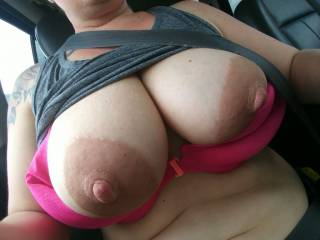 What would you do if you passed me while my tits were out?