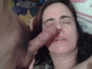 Pats with dick on her face
