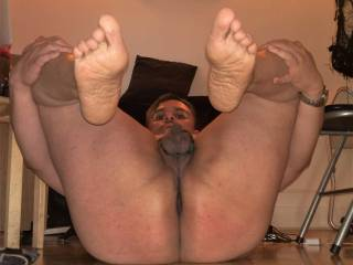My chubby ass small cock and sweaty wrinkly feet soles