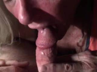 A nice slow blowjob, he finished in my ass