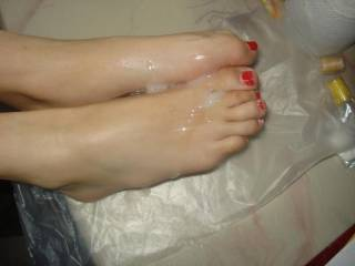 Cum Over Our Feet