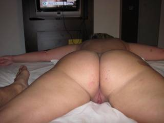 Please can I slide my hard cock between your amazing ass cheeks until I explode all over your sweet ass...