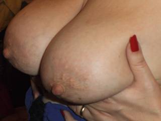 Your lovely tits, areola and nips always get this former friend's cock hard. I would love to pet them, lick them, suck them, fuck them and cover them with my cum.