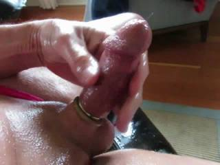rings on my cock, and panties on