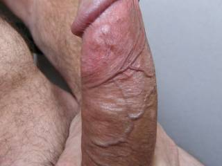 From soft to hard, a series to enjoy - 4. My fully stiff cock. Do you like the veins?