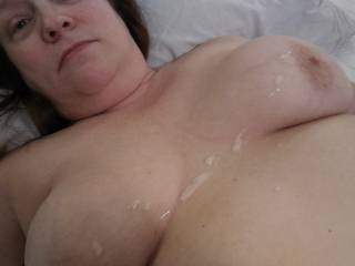 I love when my man unloads on my tits! Please check out my video to see what I did to get my reward.