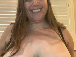 Big tits and a smile