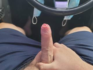 Horny while running errands