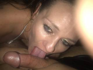 Sucking my girlfriends new boyfriend off at his birthday party