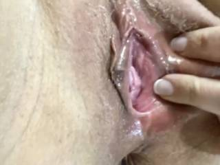 I never get enough of pushing my cock in her hot pink pussy