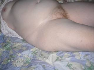my bbw wife shows red hair bush