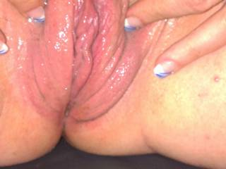 My pumped up pussy so wet want to suck and lick it?