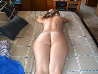 Love the view of your incredibly sensuous very sexy sweet cheeks has this big cock aching to spread em and sink its big head inside...Thanks for sharing, Candi!