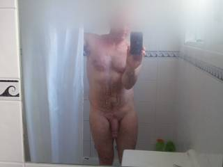 Wow you look sexy as fuck.....nice thick cock!! ;-)