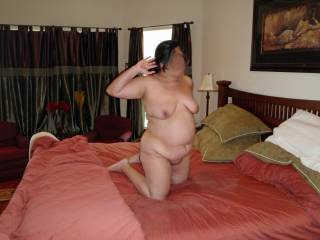 Had just asked hubby if he wanted a blowjob...listening for a response!
