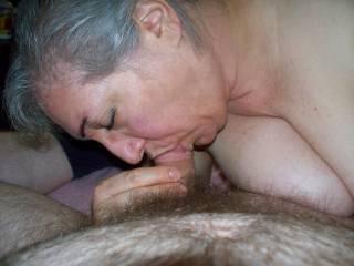 My bbw sucking my cock