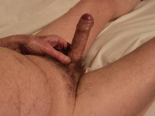 You have me so aroused that my foreskin is rolling itself back.