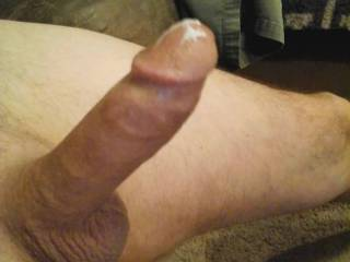 After posing for photo and cum tribute photos this morning, his cock dripping cum, who wants the last few drops???