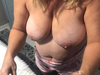 these big tits and hard nipples are waiting for some downriver guy's to cum use them..