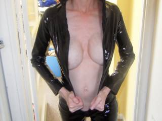 like you to come all the way here.. very very sexy and love to see more a lot more.... like to bend you over wear your sexy catsuit..  :) xxx