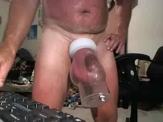 sex toy pumping my balls