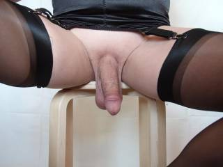 What a hot sexy delicious dangling cock.  I could look at that.....ummm for a long time.....before I toy with that cock and balls.  Licking them and sucking on them.....making your cock grow stiff  then getting you off.  Nice.  K