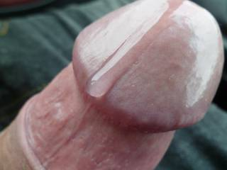 Wet pre cum cock from car handjob