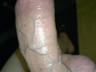 My big cock nasty as always. His balls tied up so his veins pops up nicely. This is how a cock should be. Don\'t you think?