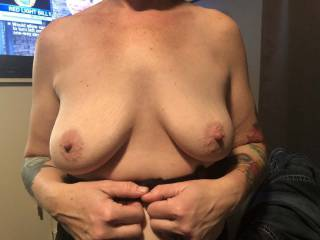 My wife's glorious tits.