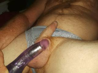 Getting ready to have some dildo play