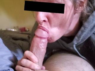 Sucking the cum out