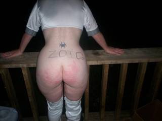 Luvly figure, luvly bottom, i wud love to join you for a good spanking.