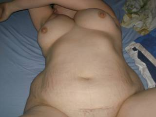 Oh yes  Now thats what I am talking baout  Lovely  belly  and tits  I bet  that ass is incredible  Added as friend as you requested