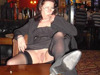 Good day at the races, called in the pub for a quick n ripped off my knickers to flash at hubby.... He loved it - what about you?