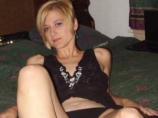 No sweetie, Beautiful you.  Yes, spread those sexy legs and let us pull of those black panties and get to know you even better.  K and G
